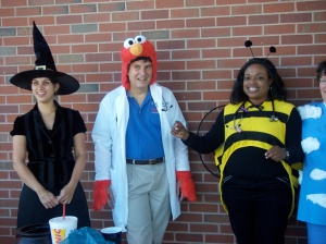 Dr Perkins and residents (Halloween 2008)
