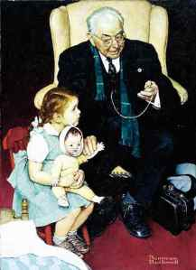 Norman Rockwell Doctor and Doll 1942