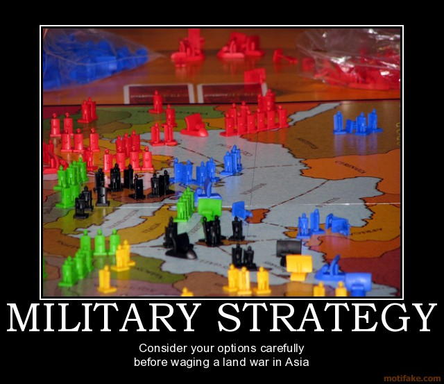 Military strategy military strategy day demotivational poster