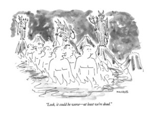 robert-mankoff-look-it-could-be-worse-at-least-we-re-dead-new-yorker-cartoon
