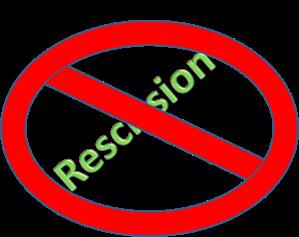 No rescission